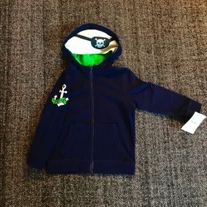 NWT navy pirate hoodie size 3T